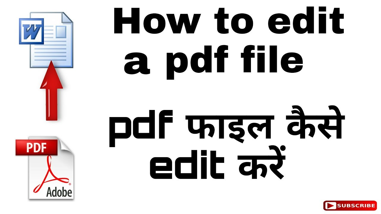How To Edit A Pdf File Simply