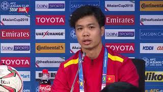 Công Phượng trả lời họp báo trước trận tranh đấu với Nhật Bản giành vé vào bán kết || AFC Asian Cup