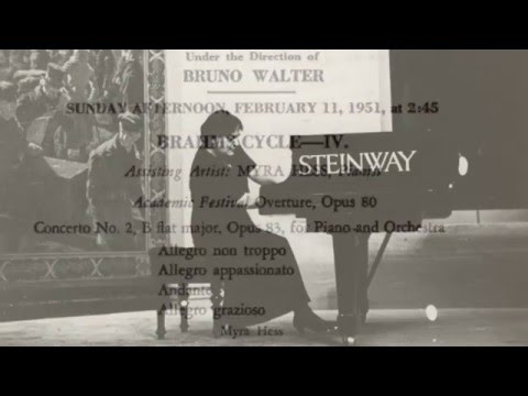 Dame Myra Hess and Bruno Walter: Brahms Second Piano Concerto (1951 concert performance)