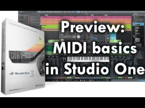 Preview: Getting Started with MIDI in Studio One