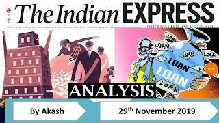 29 November 2019 - The Indian Express Newspaper Analysis हिंदी में - [UPSC/SSC/IBPS] Current affairs