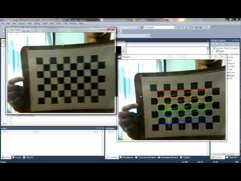 Camera Calibration using Z.Zhang's algorithm