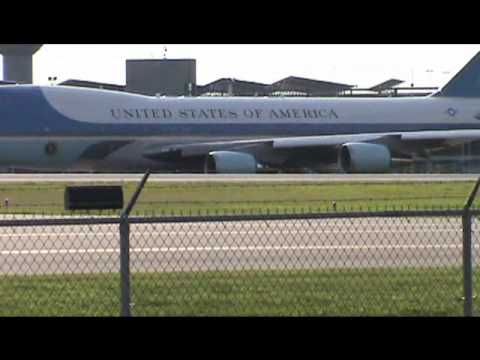 Air Force One Departing Manchester, NH (MHT) August 18, 2012