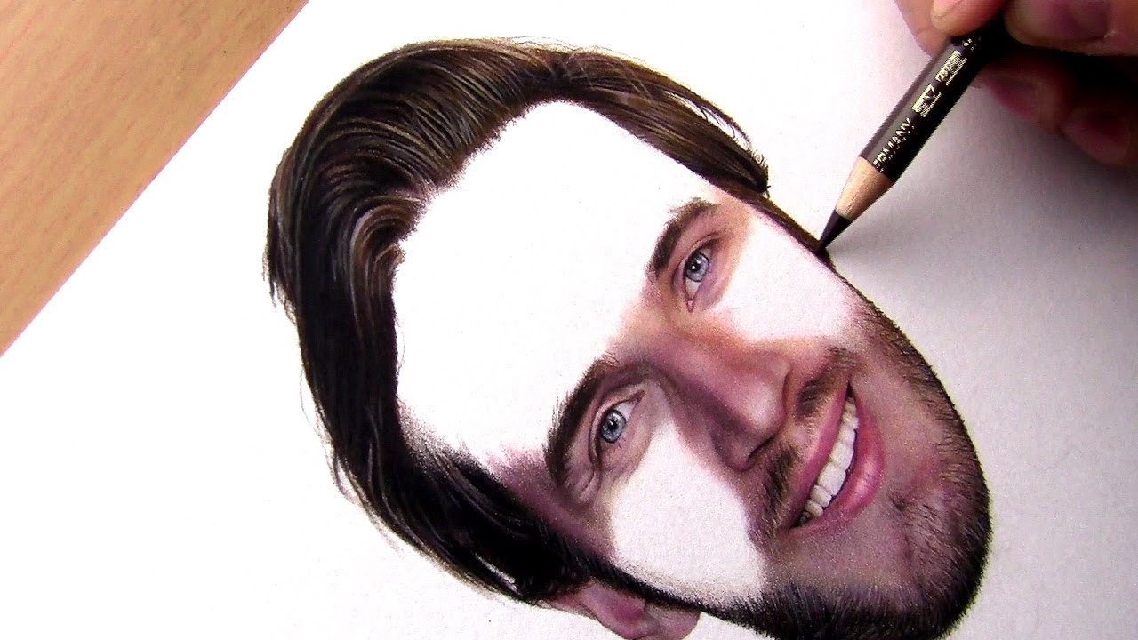 Drawing Realistic Hair With Colored Pencils Youtube