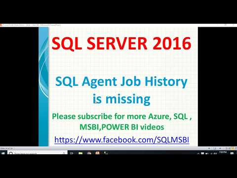 SQL Job History Is Missing | How To Check Sql Agent Job History
