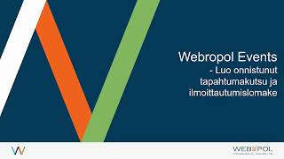 Webropol Events tapahtumanhallinta