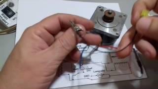 Testador Motor de Passo 4 Fios ( Corrente Alternada - CA)