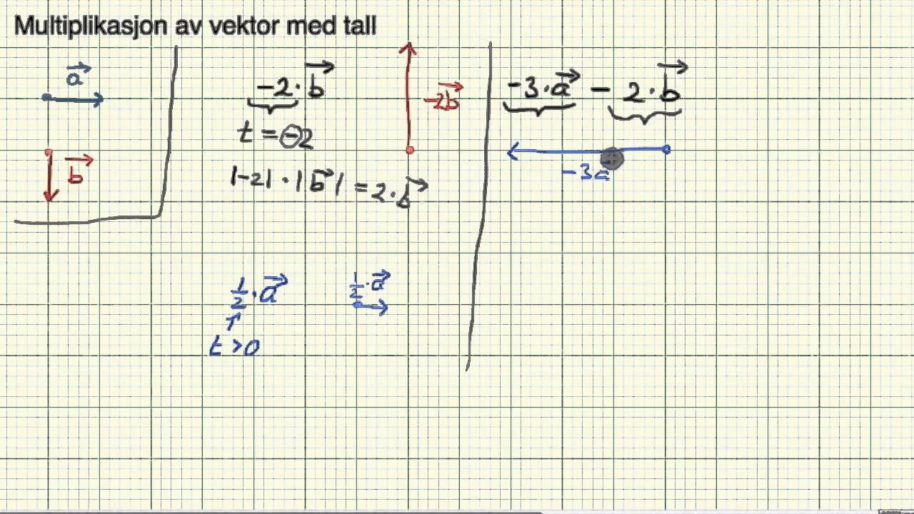 Matematikk R2   Eksempel vektoraddisjon diff og multiplikasjon med tall