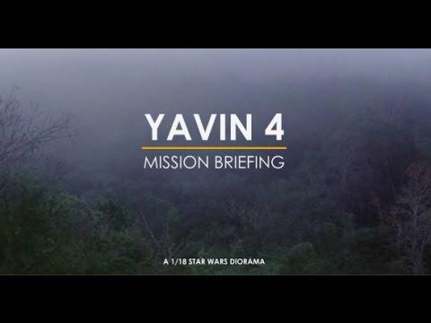 YAVIN 4 - MISSION BRIEFING - 1/18 Star Wars Diorama
