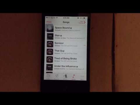 How to DELETE MUSIC on iOS 8!