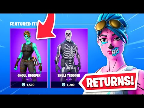 Ghoul Trooper Returns To Fortnite Store New Skins Youtube