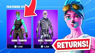 Ghoul Trooper *RETURNS* to Fortnite Store! (NEW SKINS)