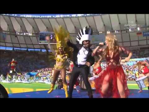 Shakira Clausura mundial Brasil 2014    La la la Ft Carlinhos Brown HD
