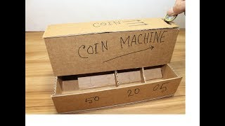 DIY coin sorting machine from cardboard -by ndp gear     (coin sorting  piggy bank)