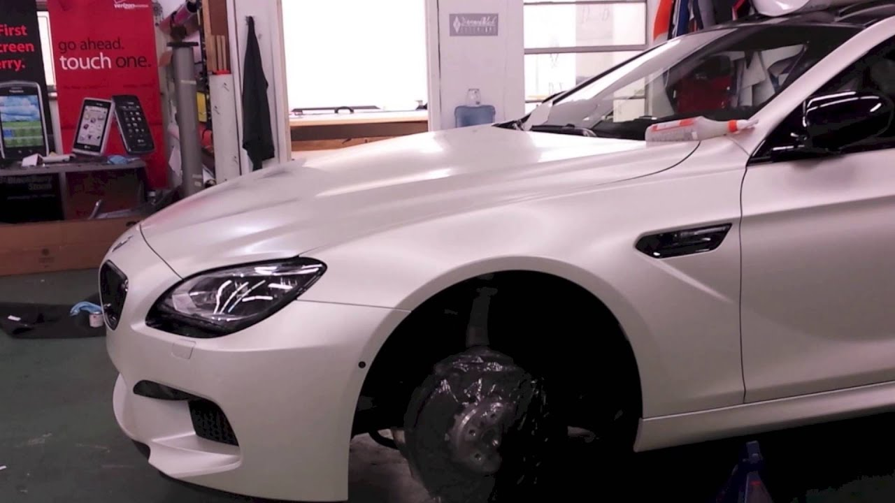 2013 Bmw M6 Wrapped In Satin Pearl White 3m By Dbx Dbxswag Youtube