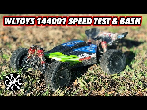 WLTOYS 144001 1/14 Scale Buggy Speed Test And Bash