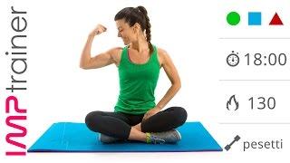 Braccia Toniche: Esercizi Per Le Braccia Con Pesetti e Varianti Di Plank