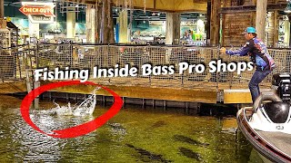 Caught a Bass Inside Bass Pro Shops Pyramid (Ft. Bill Dance)