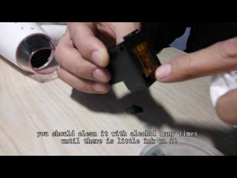 How to clean ink cartridges for edible food printer