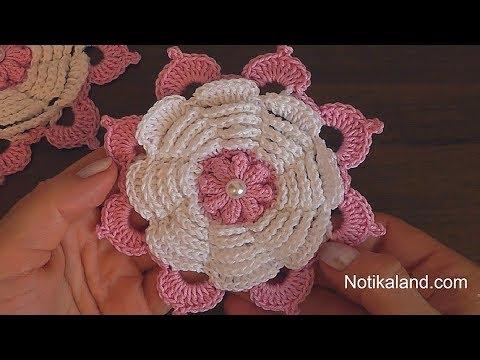Crochet flower tutorial  VERY EASY Step by step