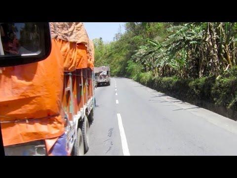 Bus trip from Pokhara to Kathmandu