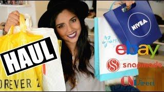 haul ancdota con ebay compras en snapmade cndirect forever21 h nivea   oenelle