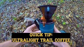 Quick Tip: Ultralight Fresh-Brewed Trail Coffee