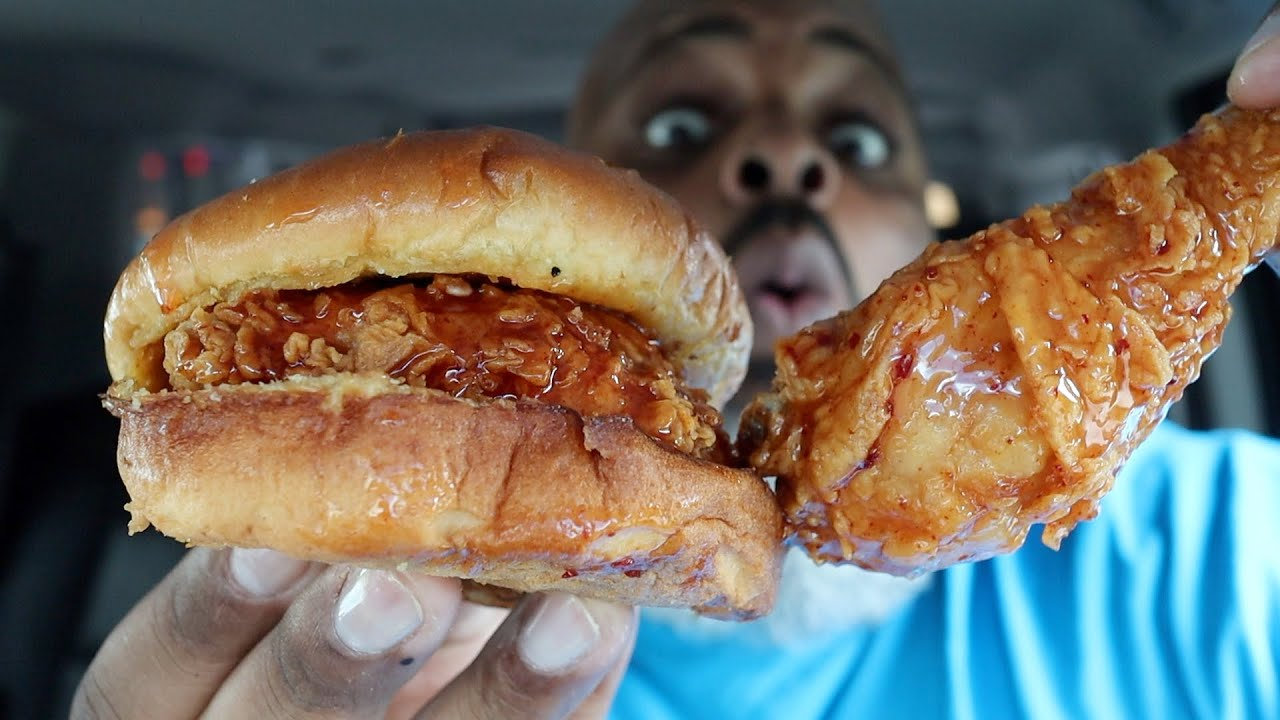 Popeyes NEW Hot Honey Chicken Review with Hot Honey Spicy Chicken Sandwich