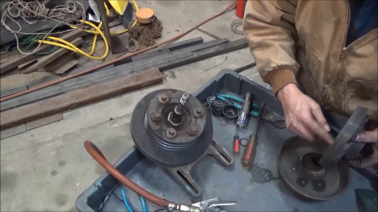 Fan clutch repair on a big truck