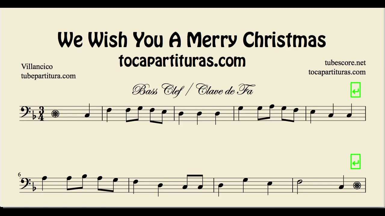 We wish you a Merry Christmas Sheet Music for Trombone Tube ...