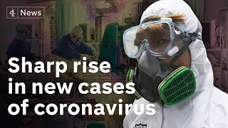 Sharp rise in coronavirus cases alarms world health officials