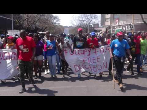 TUT campuses shut down as protesters march through Pretoria CBD