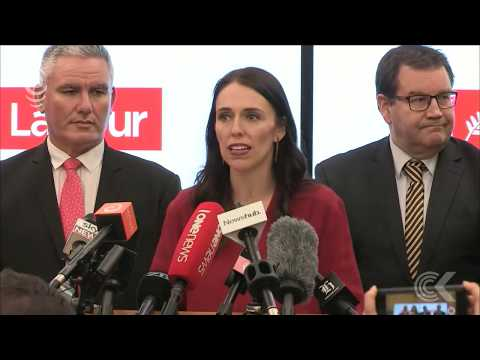 Jacinda Ardern makes first speech as incoming Prime Minister