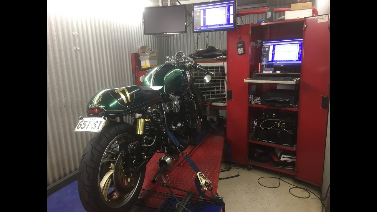 XS1100 Cafe Racer - Motorcycle Dyno (Dynamometer) Run and Horse Power  Explained