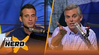 doug gottlieb and colin cowherd argue about the state of notre dame football the herd