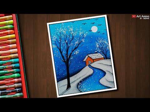 Beautiful Fantasy Artwork Oil Pastels Diwali Drawing