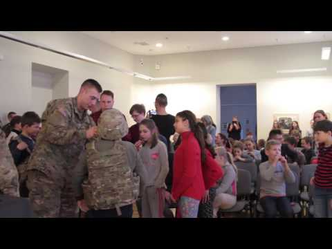 US Soldiers at Lithuanian Children