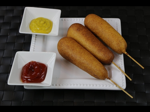 How to Make Corn Dogs -  Hot dog on a Stick Recipe