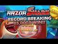 RAZOR SHARK - RECORD BREAKING 85,000X WIN ON €5 BET!
