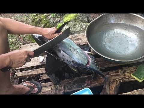 Cleaning an Ahi fish (part 1)