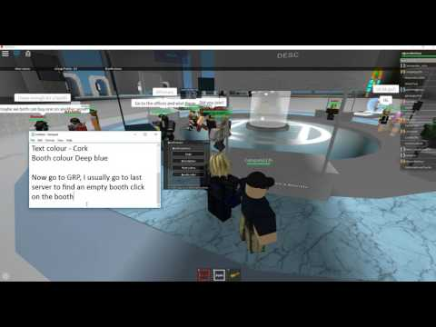 Roblox,how to color and set up booth at Group Recruiting Plaza