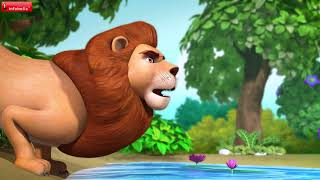 The Lion and the Boar Story   Bengali Stories for Children   Infobells