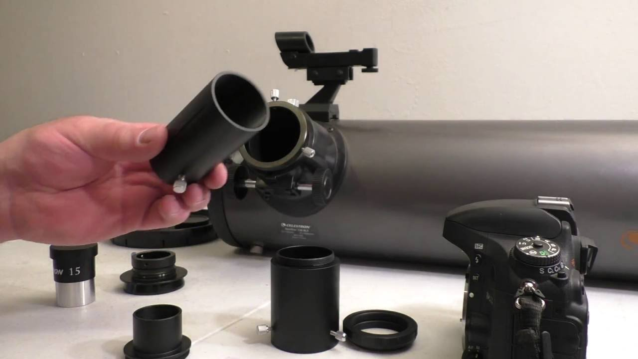 Attaching a dslr to a telescope with views of jupiter and the moon