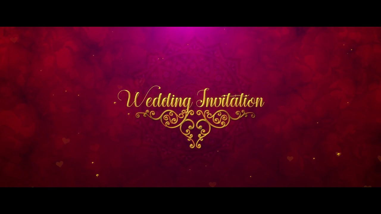 Royal wedding invitation in after effects - YouTube
