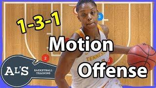 1-3-1 Motion Basketball Offense