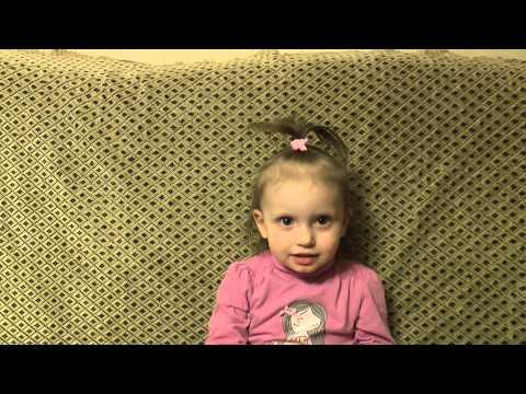 Катюша (1 г. 9 месяцев) рассказывает про Мишку косолапого