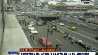 San Isidro. Registran balacera y asalta en la Av. Arequipa