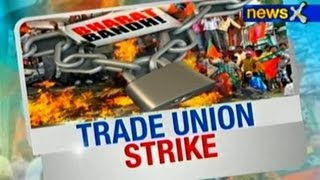 Trade union strike underway