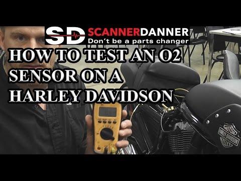 How to test an O2 sensor on a Harley Davidson - YouTube