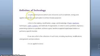 Definition of Science and Technology